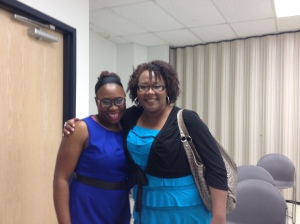 At the 2012 Faith and Fiction Retreat with Michelle Stimpson