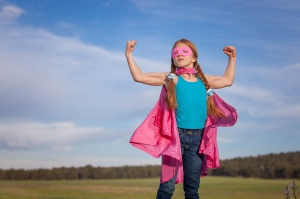 girl power super hero confidence in kids or children